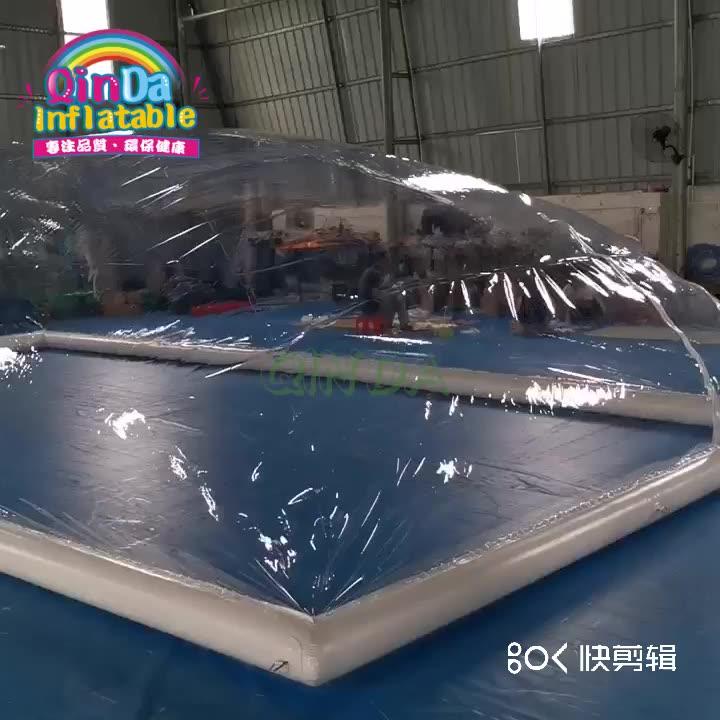欧美热销遮阳充气泳池帐篷可移动防风雪水池遮挡盖片厂家直销定制