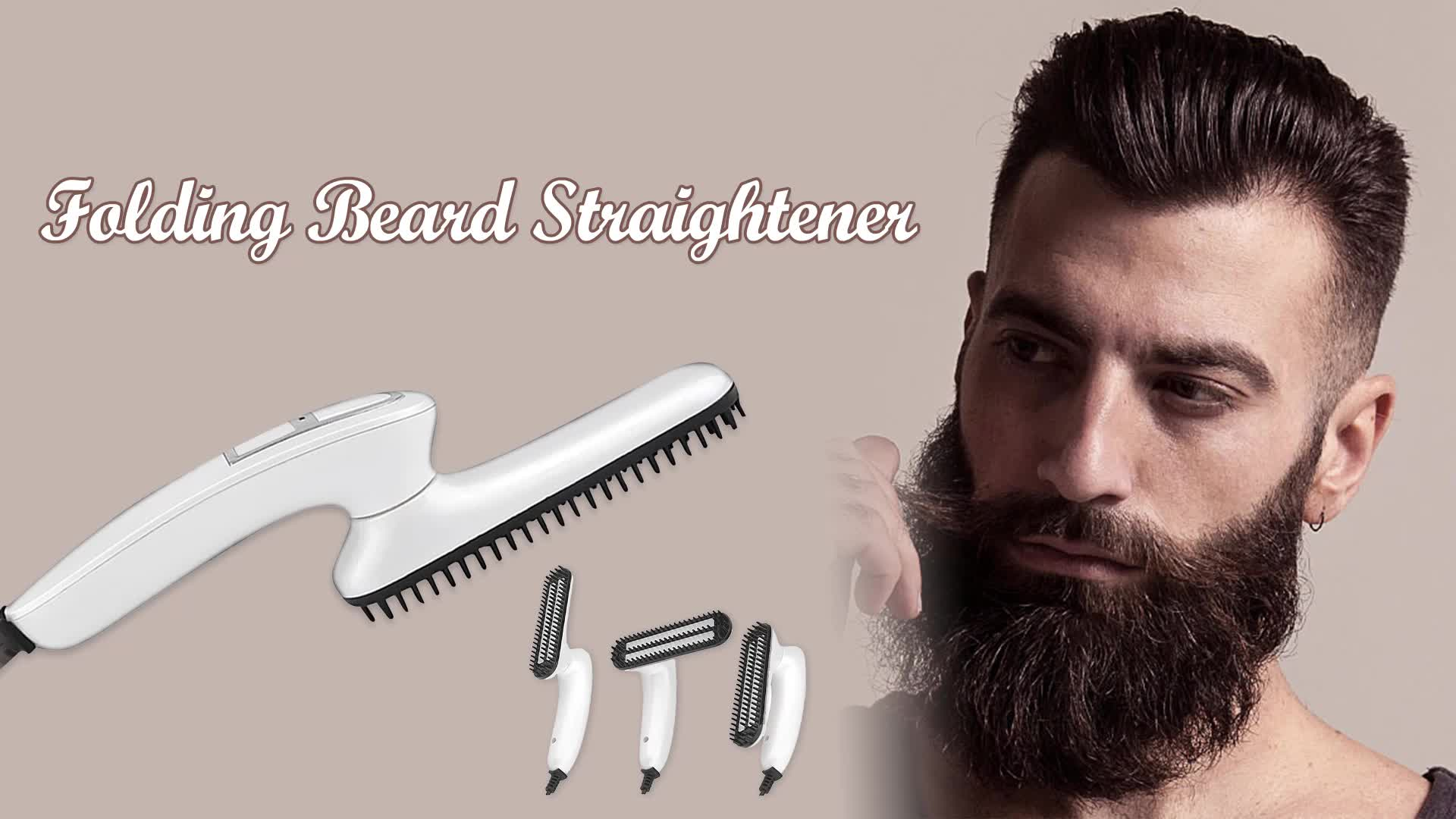 ONULISS Electric Beard Straightening Comb One Step Hot Air Brush Professional Man Hair+Straightener
