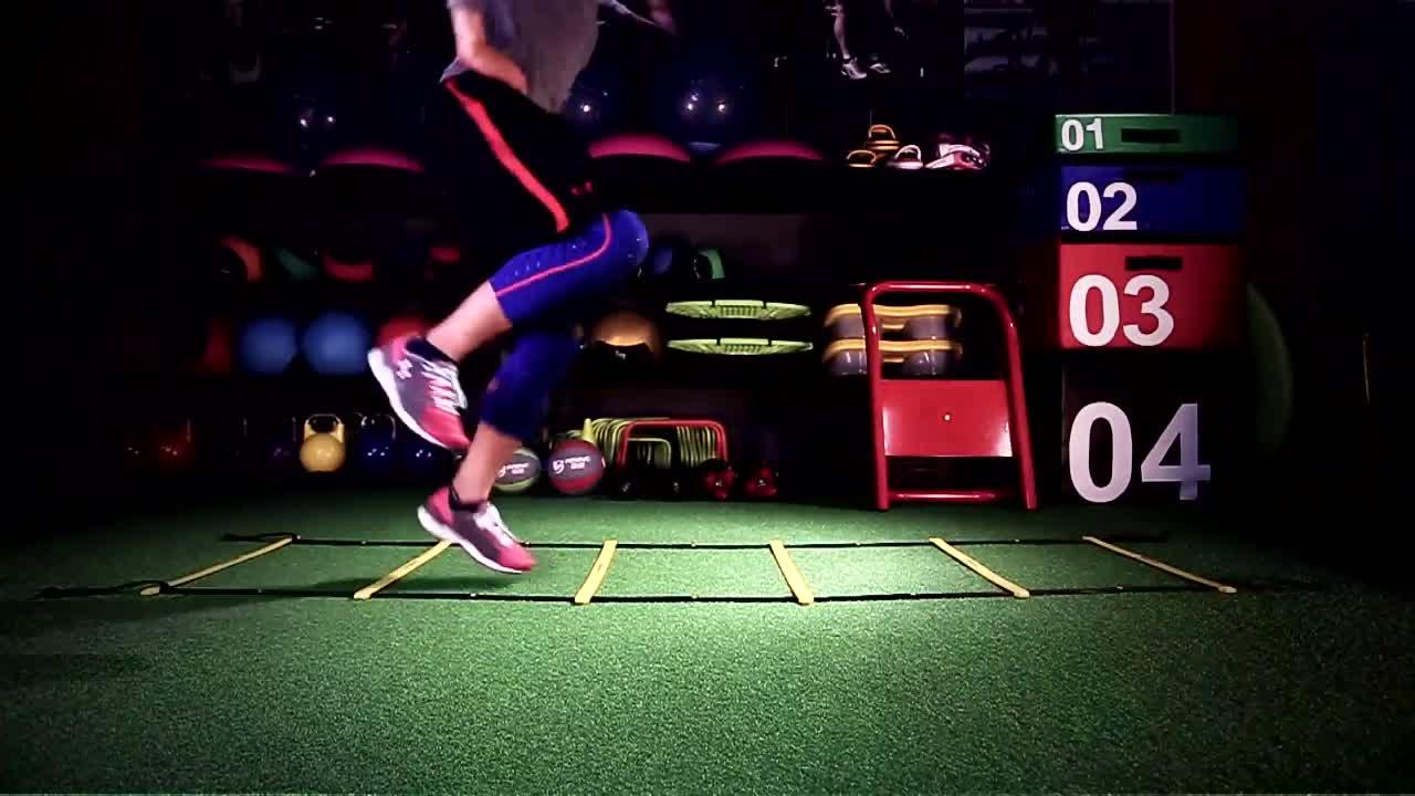 Регулируемый для футбольного тренировочные скорость Координационная лестница