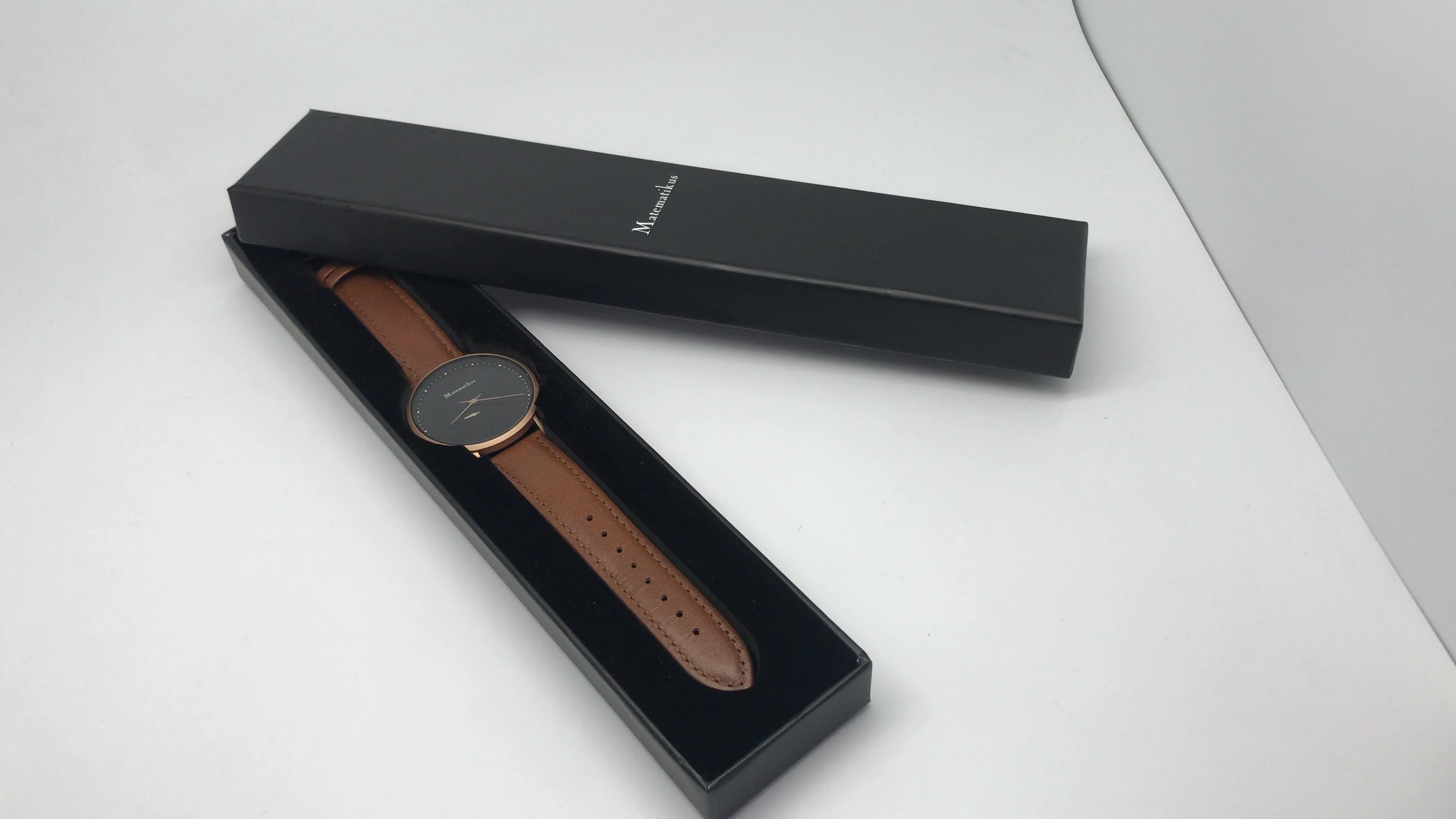 2019 Hot Sale Luxury Men Watch OEM Watch Quartz wristwatch with Luxury Box Prefect Gifts Leather Watch for Men
