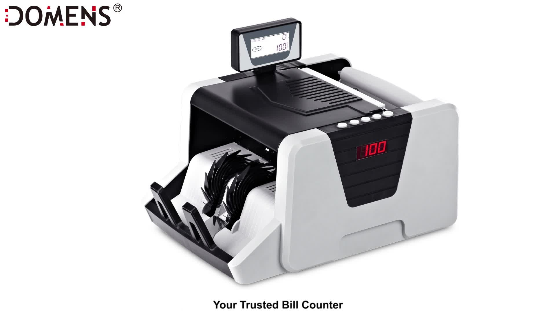 Bill Counter Double Display with Counterfeit Detection Suitable for Multi-Currency Money Cash Counting Machine Bank Equipment