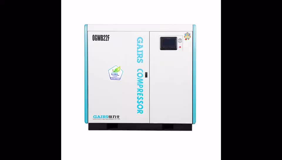 Mini elektrische 100% olie gratis schroef type ademen luchtcompressor