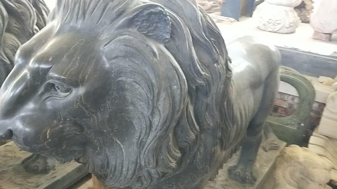 Escultura de estatuas de León de bronce de gran oferta para exteriores