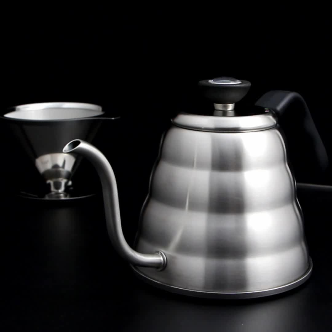 Amazon Best Sell Thermometer Gooseneck Kettle Stainless Steel Pour Over Coffee kettle