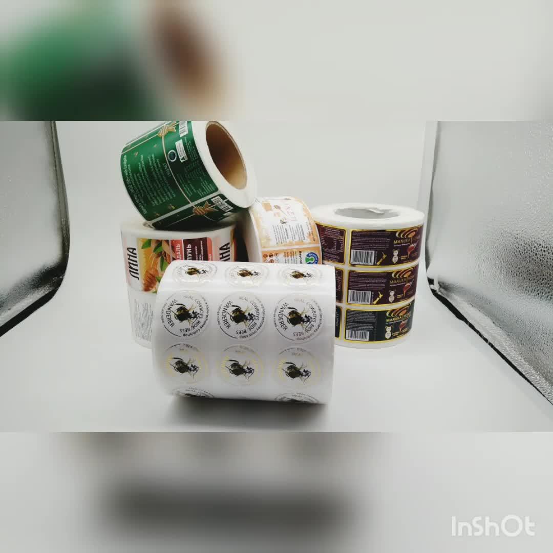 Custom Adhesive Raw Honey Printed Self Adhesive Label for Honey Jars