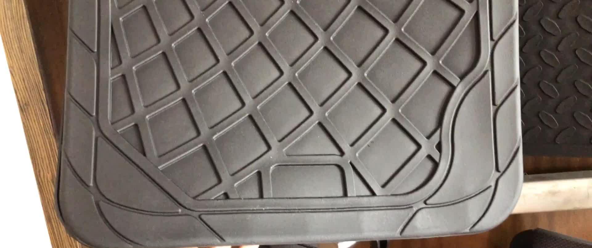 Benzersiz tasarım Mükemmel kalite düşük fiyat araba paspaslar kauçuk yaratıcı tasarım araba kauçuk zemin matı