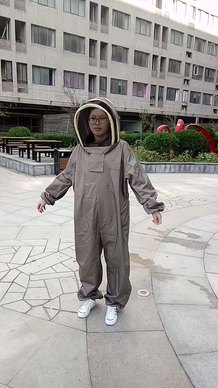 Coverall Hooded Bee Suits Beekeeping Working Clothes for Adult