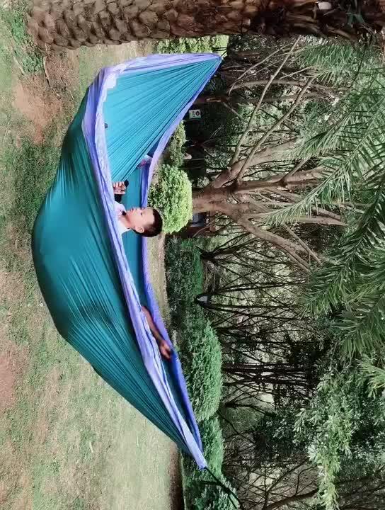 Camping hangmat met klamboe regen vliegen, reizen camping outdoor winddicht hangmat mosquito regen