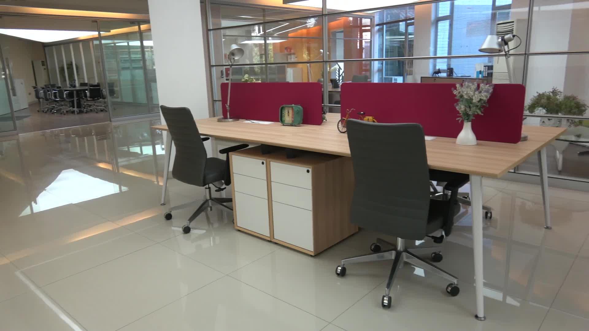 Hohe Qualität Moderne Keine Griff Design Unter Schreibtisch 3 Schubladen Melamin Holz automatische Kleine aktenschrank