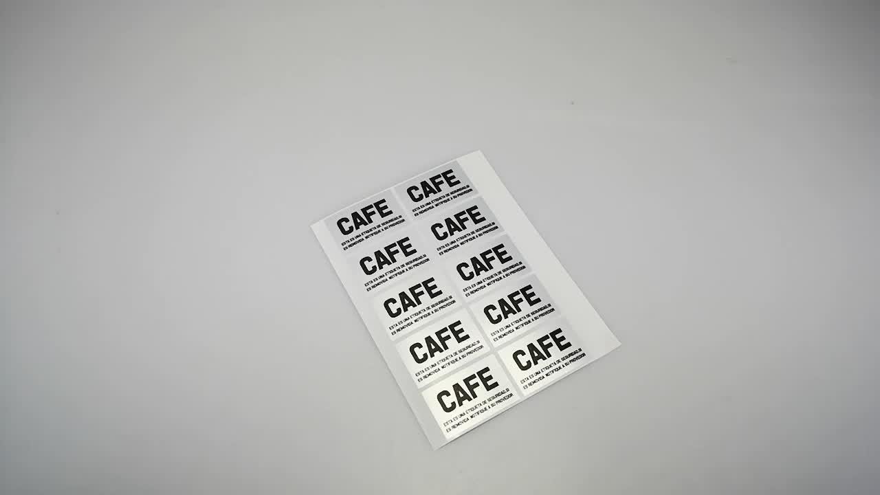 De advertencia no aceptar si sello está roto manipulaciones sobre cinta de sellado Envío de embalaje de impresión de la etiqueta engomada