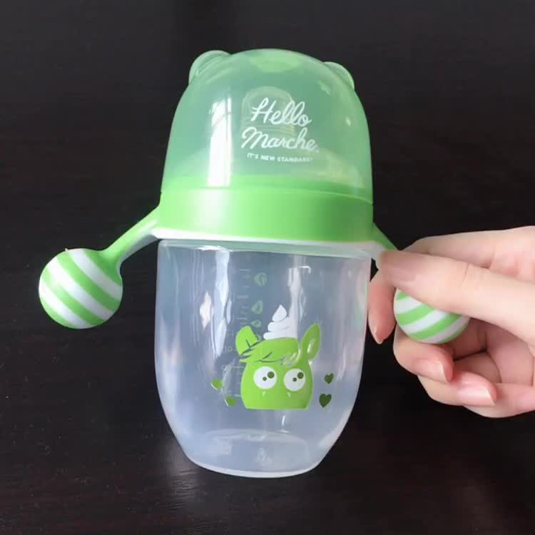 BPA フリーの食品グレードプラスチック飲料水ボトル非流出ベビーカップ、トレーニング