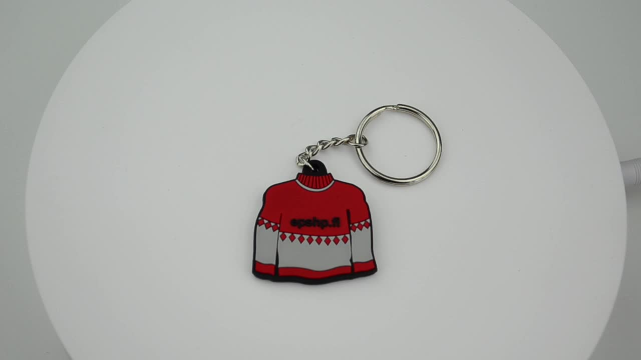 Key Chain Factory Promotion 2d or 3d  Rubber Custom Soft PVC Keychain