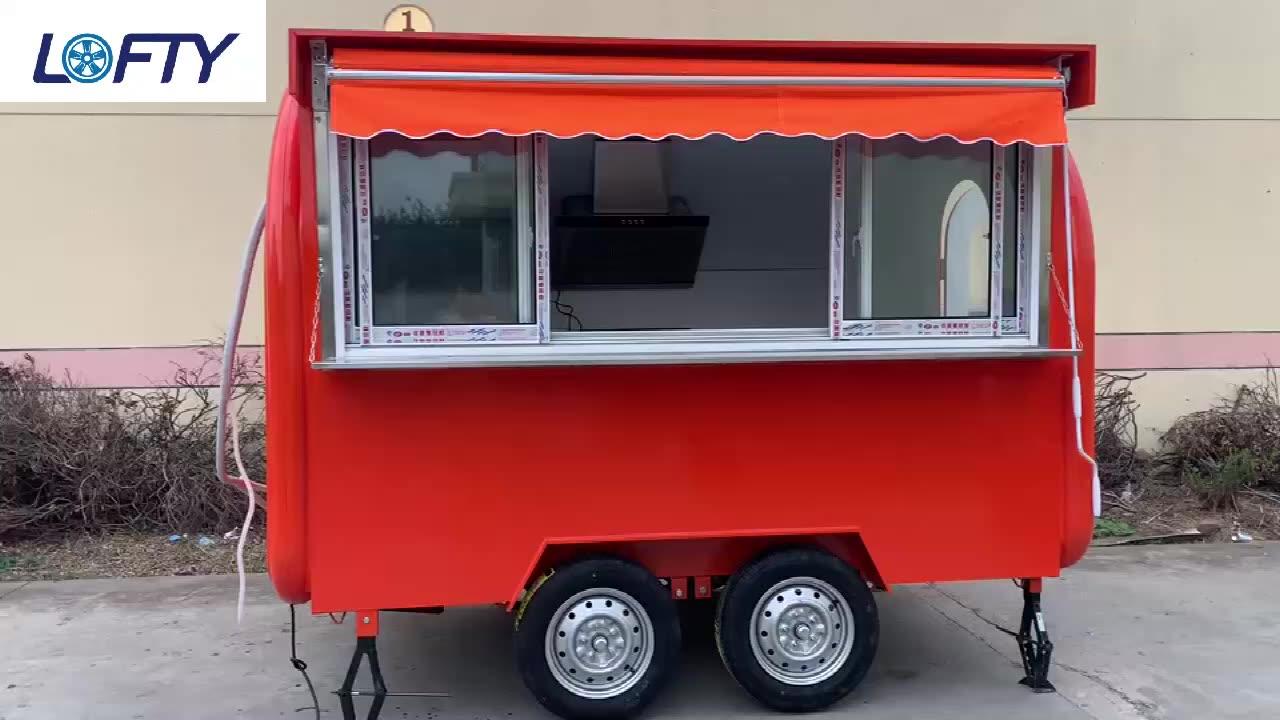 In acciaio inox mobile cibo carrello Mobile Hot Dog cart/concessione rimorchio/rimorchiabile cibo rimorchio per la vendita