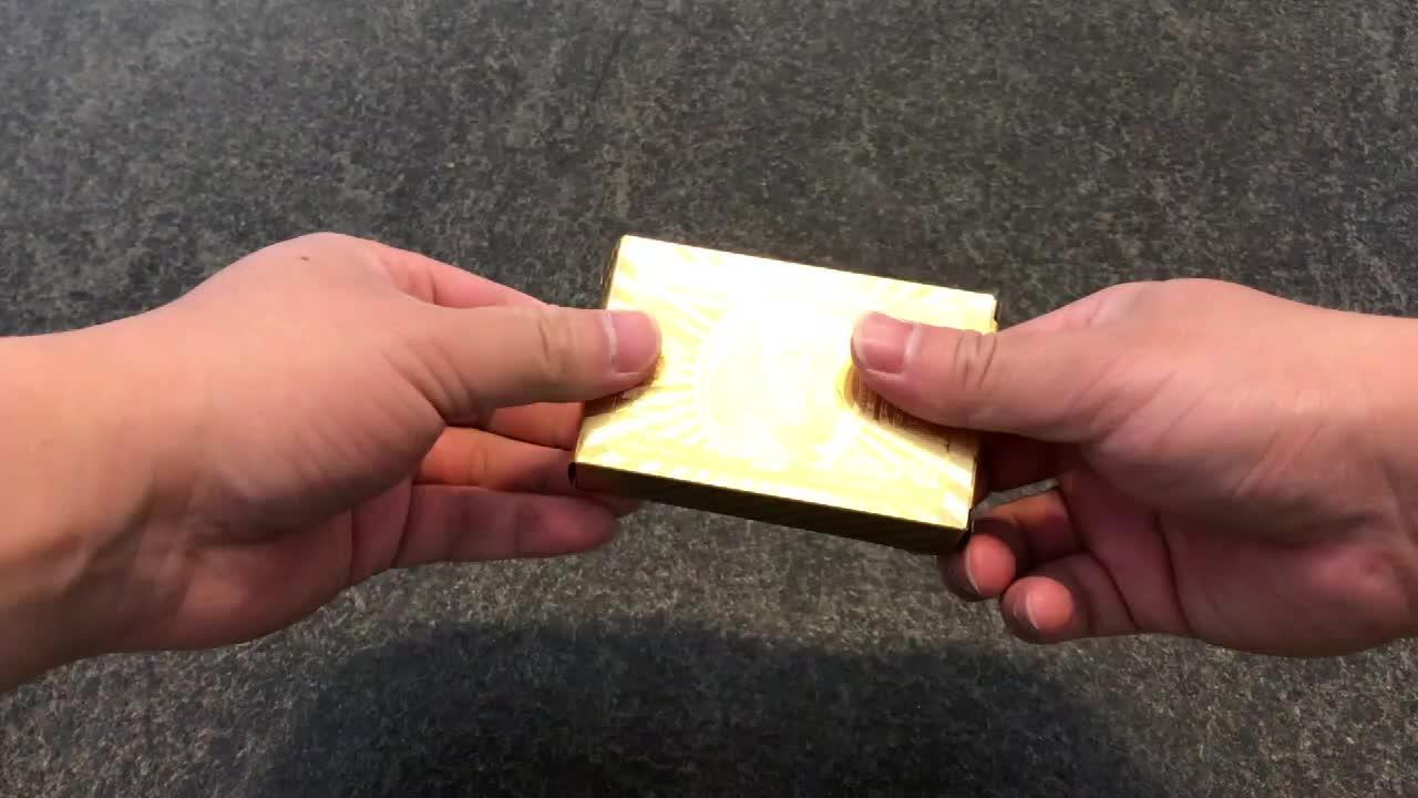 2018ที่กำหนดเองนูน24พัน999.9ฟอยล์สีทองชุบเล่นไพ่