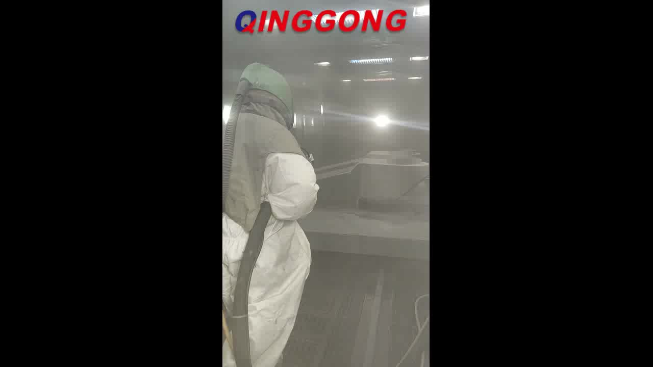 Container blast rooms dust cleaning sandblasting booths sandblasting room in abrator