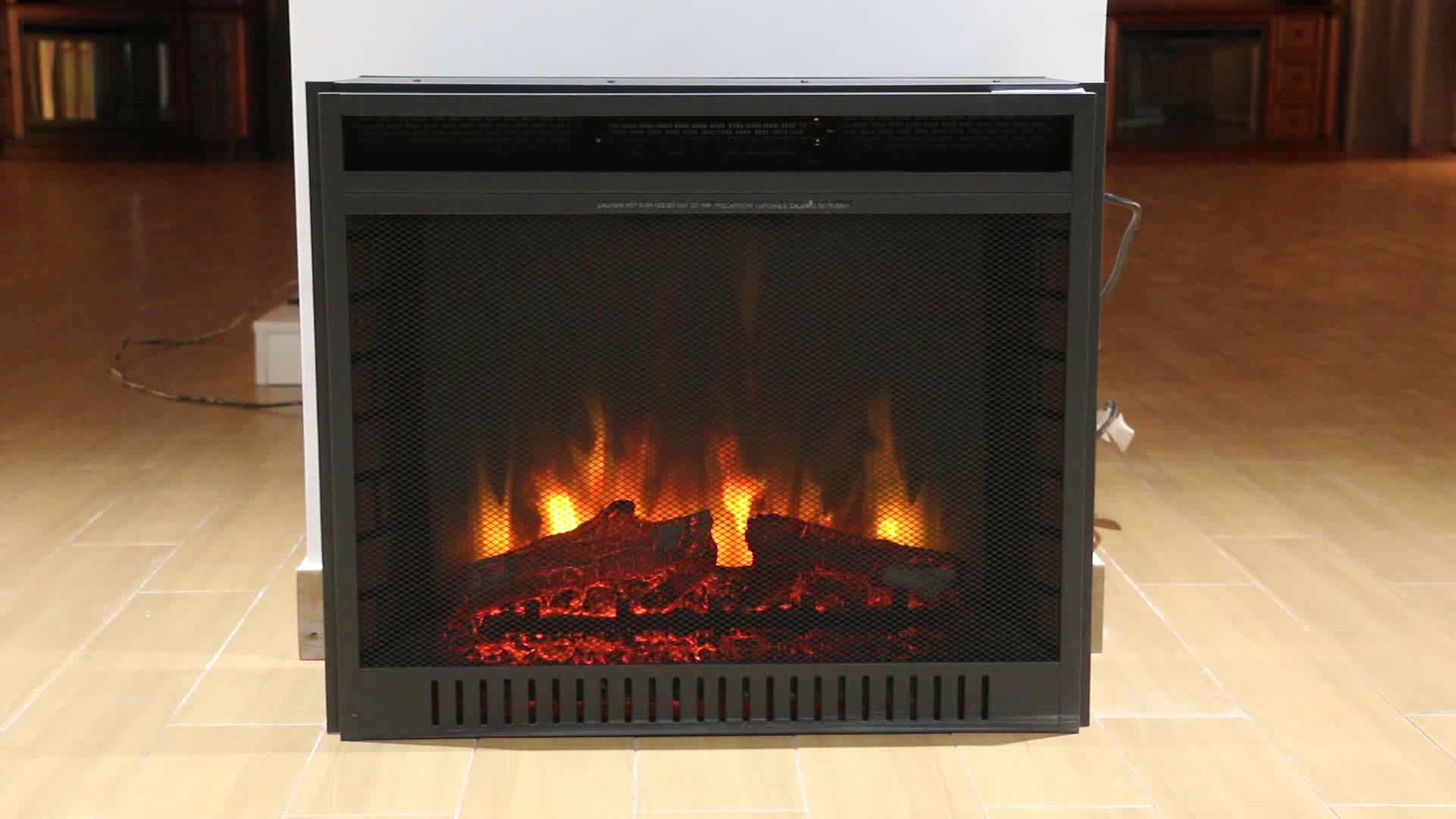 """28"""" Grid Rotating Display Indoor Insert Heater Electric Fireplace with double moding"""