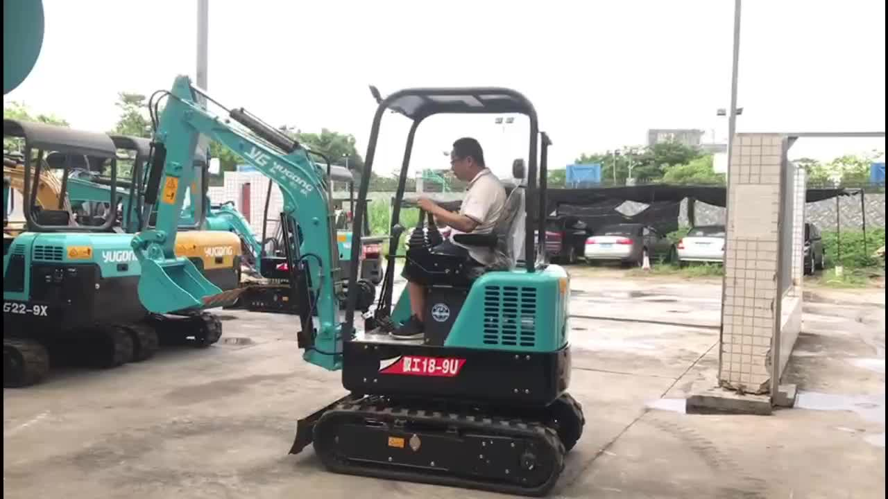 2T Mini Hydraulic Crawler Excavator Mirco Digger for Sale