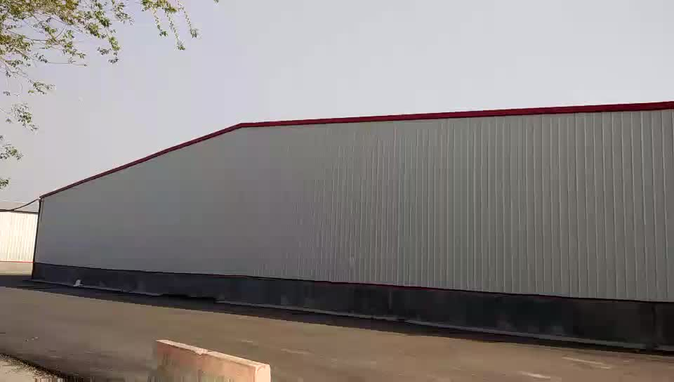 Prefabricated Sandwich Panel Structural Steel Beam Fabrication Aircraft Hangars And Warehouse Building