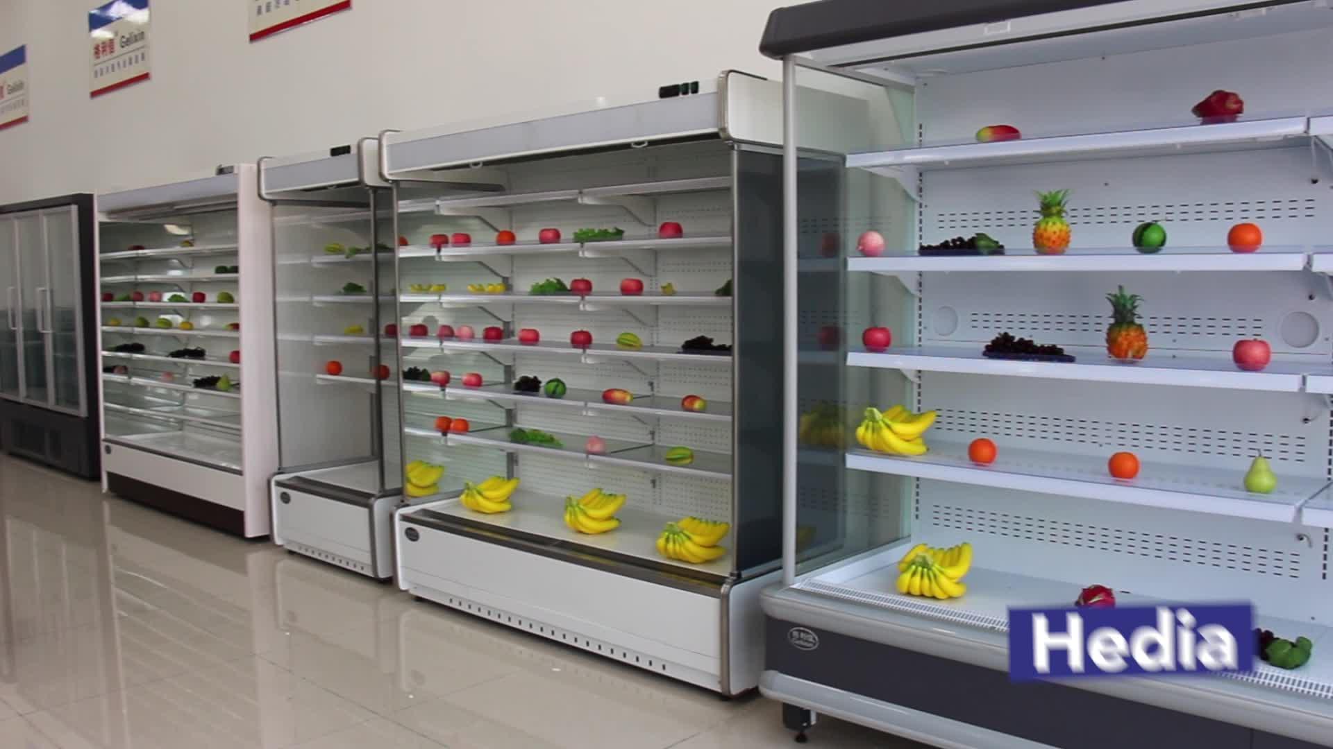 चीन निर्माता ऊपरवाला रेफ्रिजरेटर सुपरमार्केट या फल और सब्जी दुकानों के लिए इस्तेमाल किया