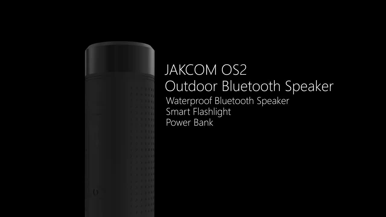 New product  JAKCOM OS2 waterproof bluetooth speaker with flashlight   for outdoor sport
