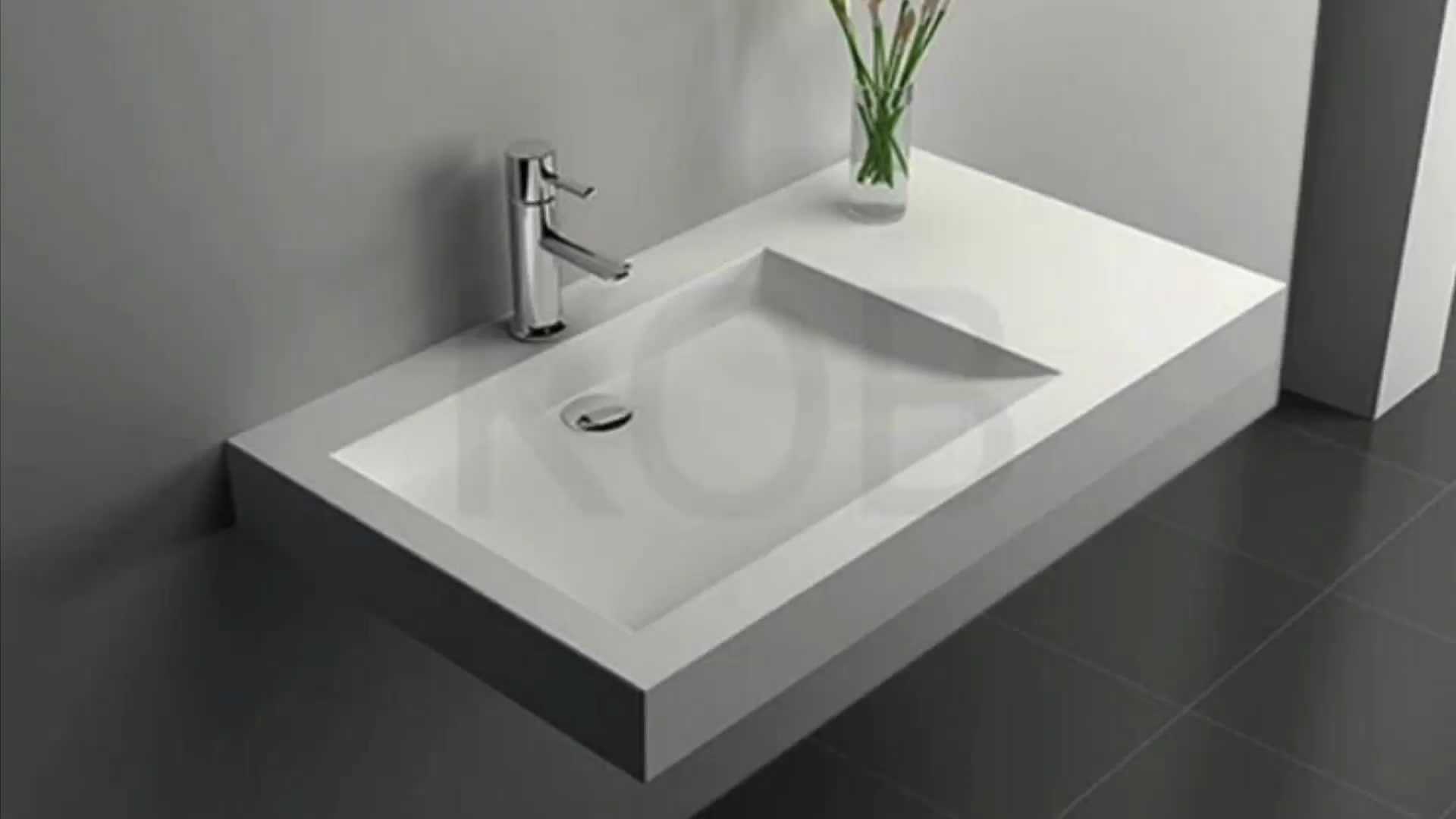CK2001 حوض حوض معلق سطحي مسطح معلق حوض حمام مزخرف