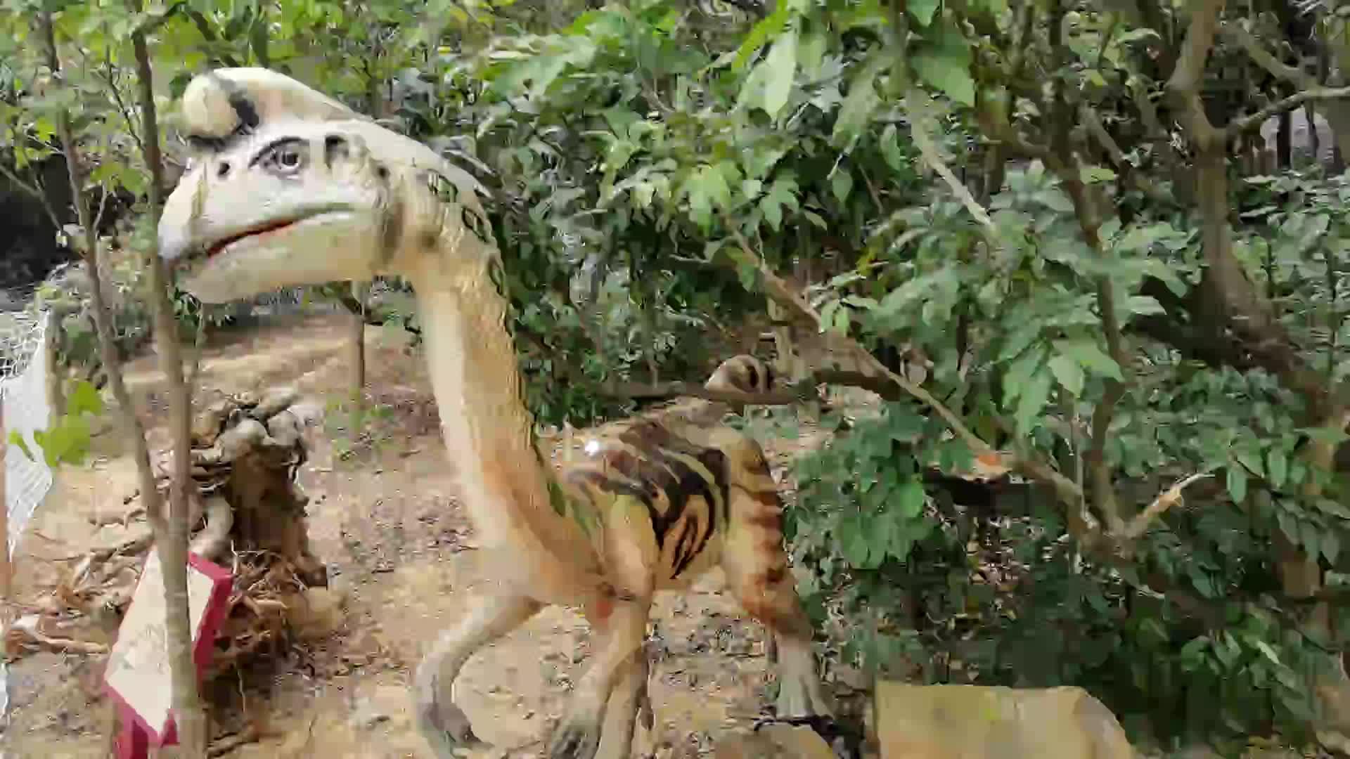 쥬라기 공원 Animatronic 로봇 생활 크기 공룡 모델 판매