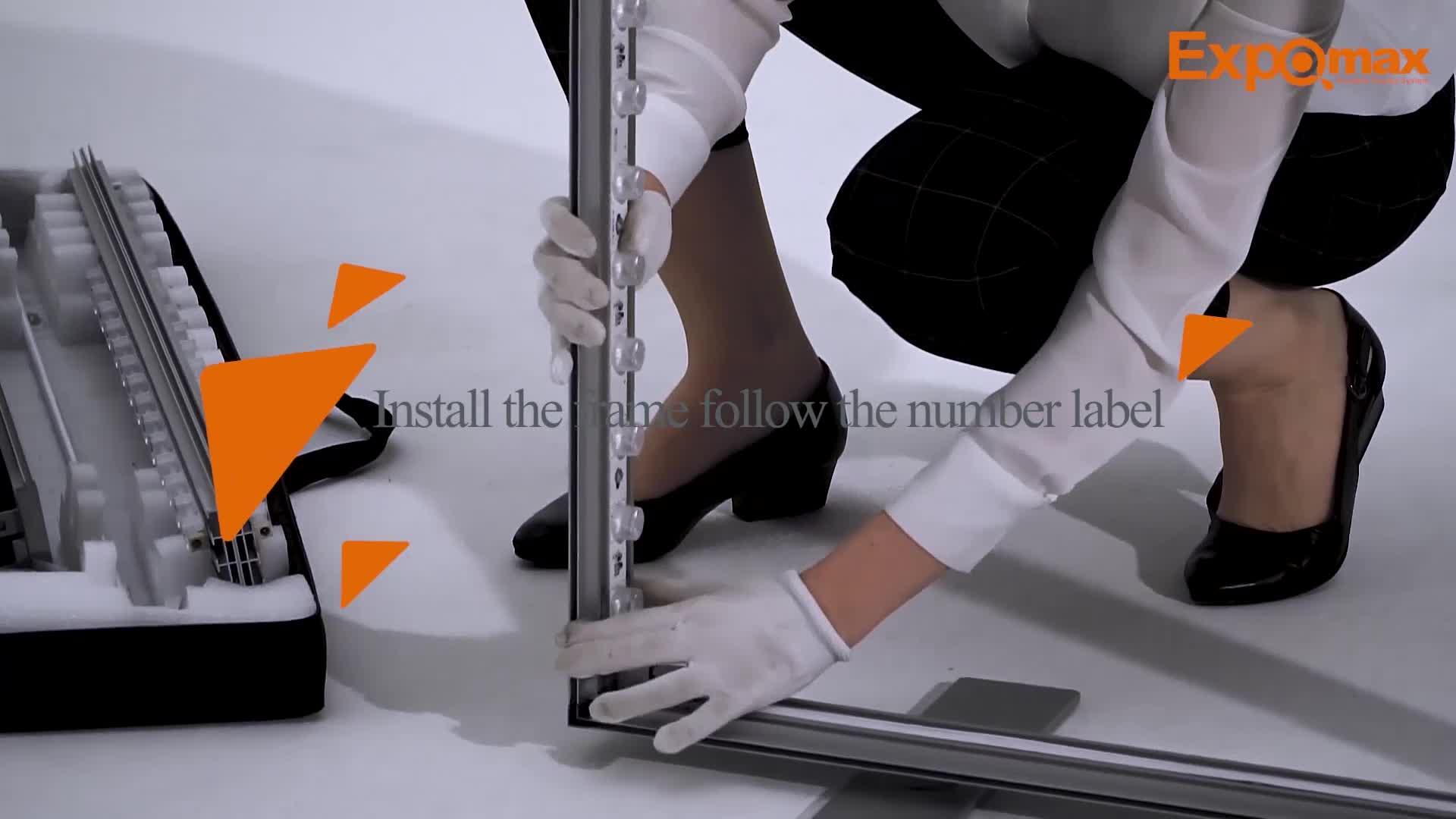 Easy set up free tool custom printing 80mm SEG Lightbox for exhibition booth