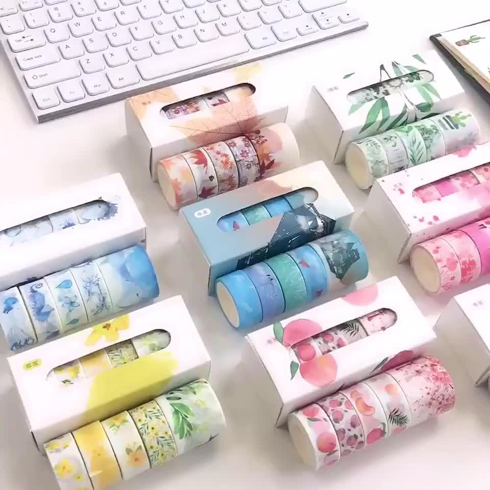 Nach Machen Weihnachten Japanischen Papier Bunte Klebe Verpackung Individuell Bedruckte Washi Band
