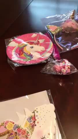 Nicro New Arrivals 190+ PCS Kid Birthday Decorations Favors Set Unicorn Party Supplies