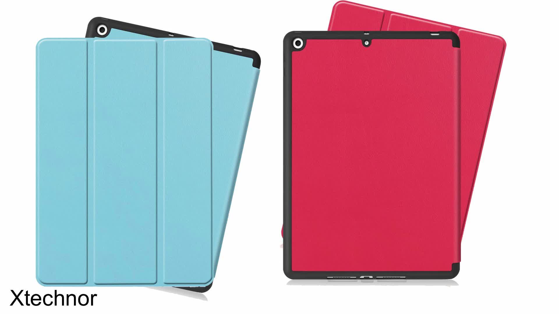 Bảo Vệ Thông Minh Bìa Với Pen Chủ Magnetic Auto Wake & Ngủ Chức Năng Cho Ipad 10.2 Trường Hợp Da Tablet Bìa
