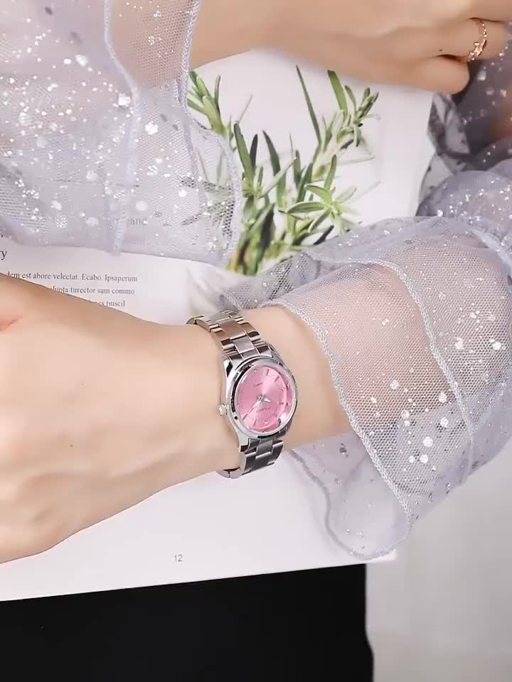 ladies  clock  reloj mujer elegant  wristwatches  stainless strap band fashion reloj  luxury