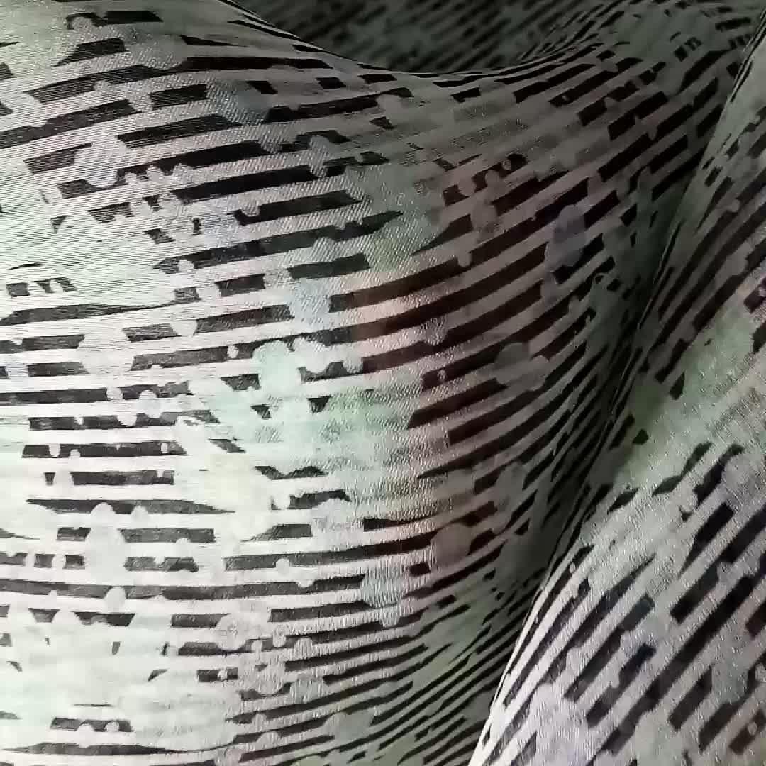 Custom digital print silk organza 5.5mm fabric for dress garment