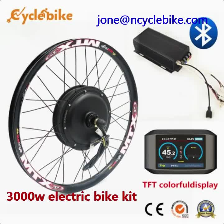 TFT LCD display programmable 48v 72v 5000W hub motor electric scooter kit