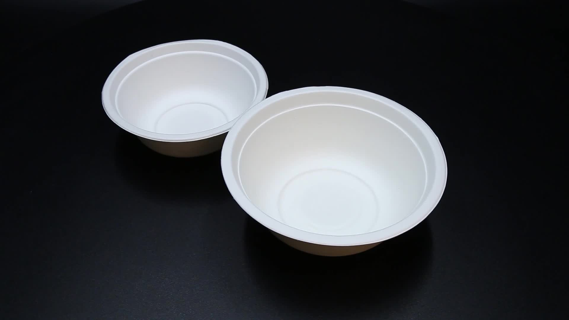 16OZ Biodegradable Compostable Disposable Bagasse Bowl With Lid