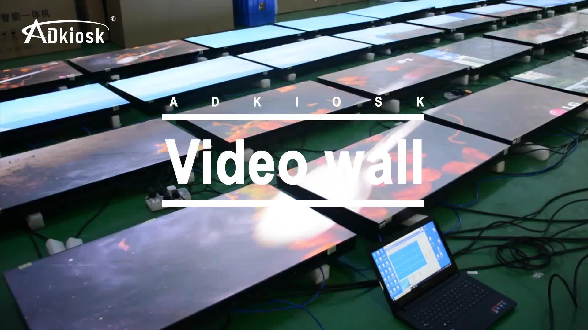 Layar Datar Penggantian 4 K LCD Samsung Layar TV 2X2 Pengawas Video