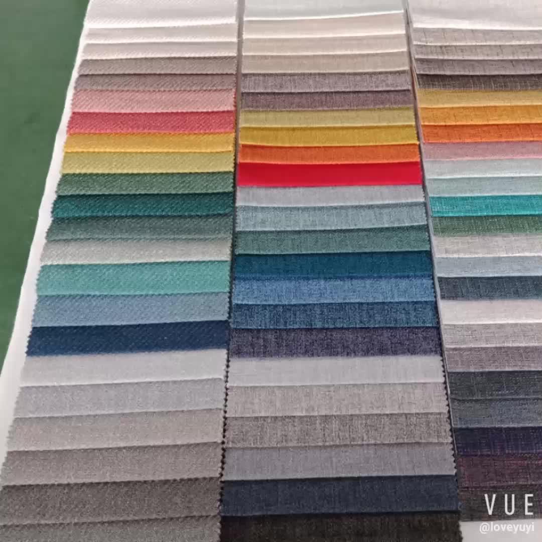 Spun Polyester Plain Weave Coating Upholstery Stock Lot Fabric