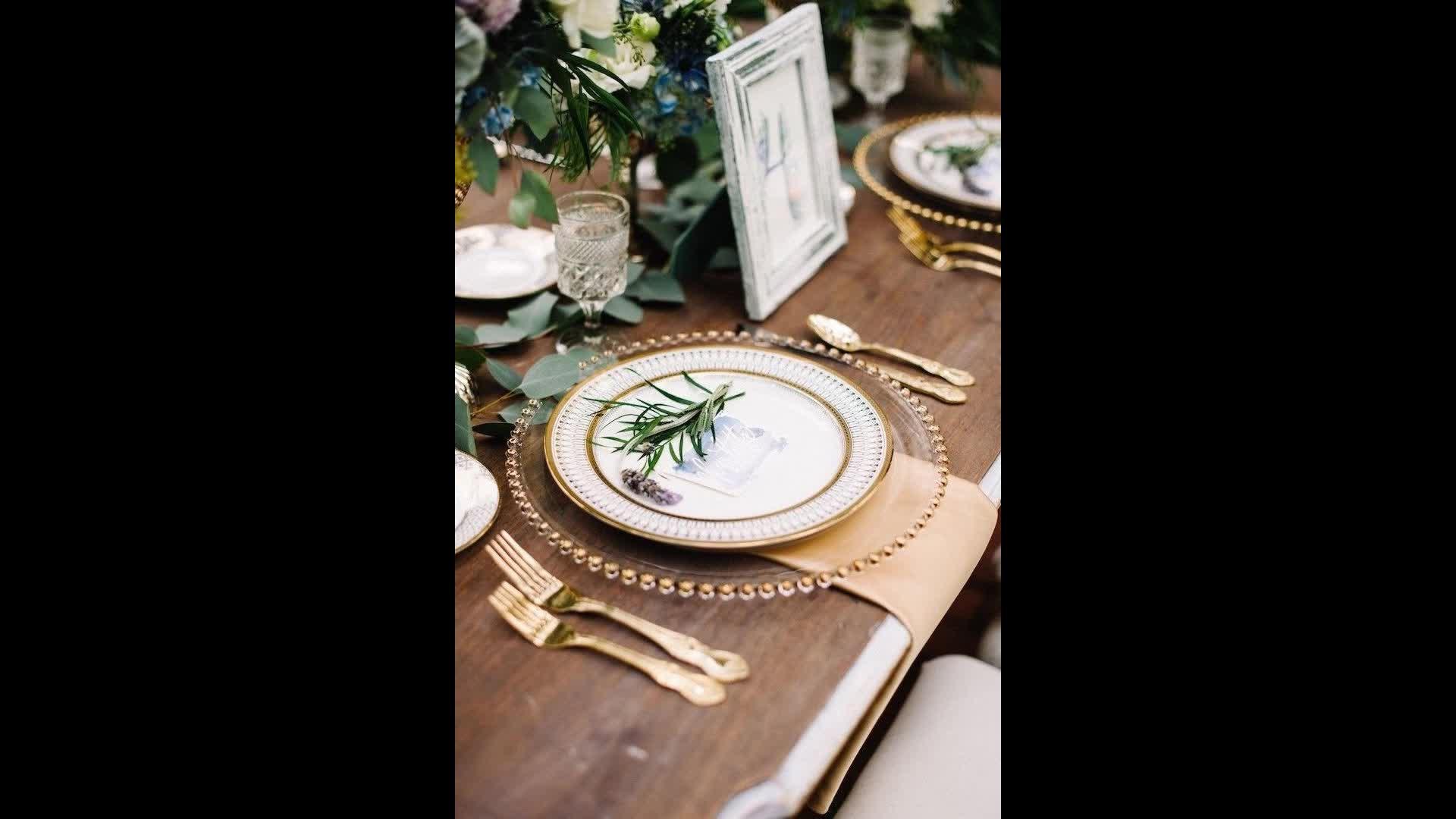 DEACORY Heißer verkauf 13 zoll runde gold silber schwarz umrandeten ladegerät platten für hochzeit party