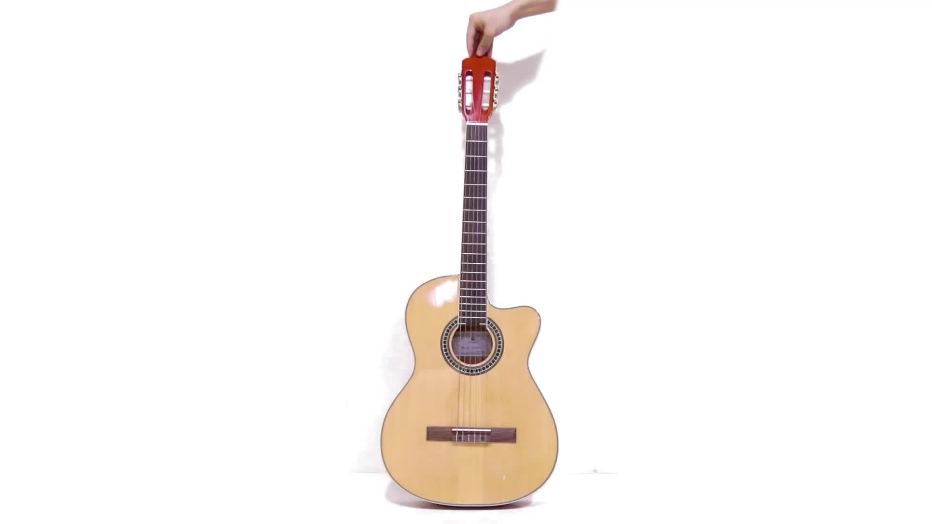 Benutzerdefinierte Dünnen Körper Cutaway Klassische Gitarre