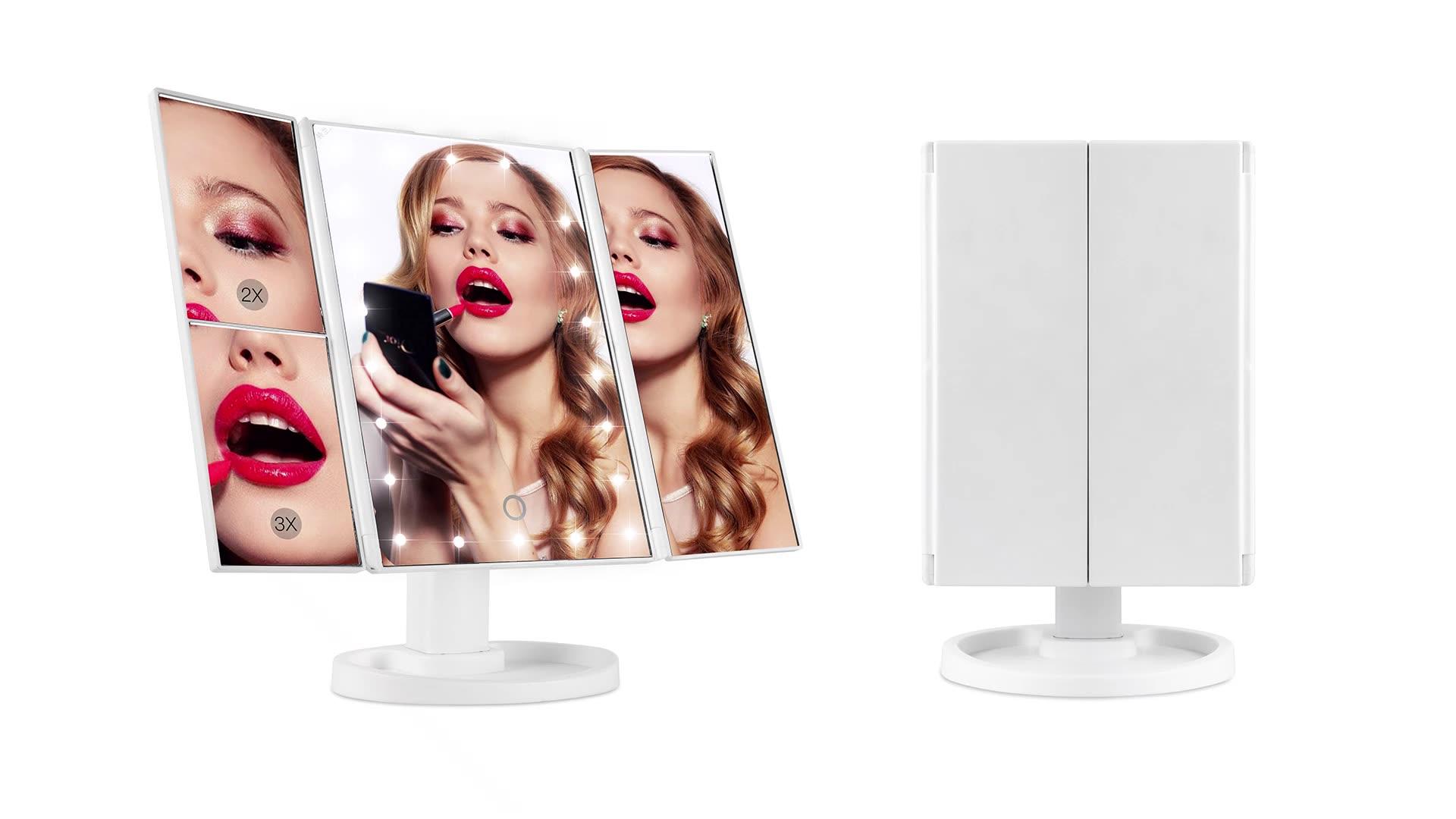 조정 usb 전원 전기 도매 화장품 조명이 접힌 화장 거울 led 빛