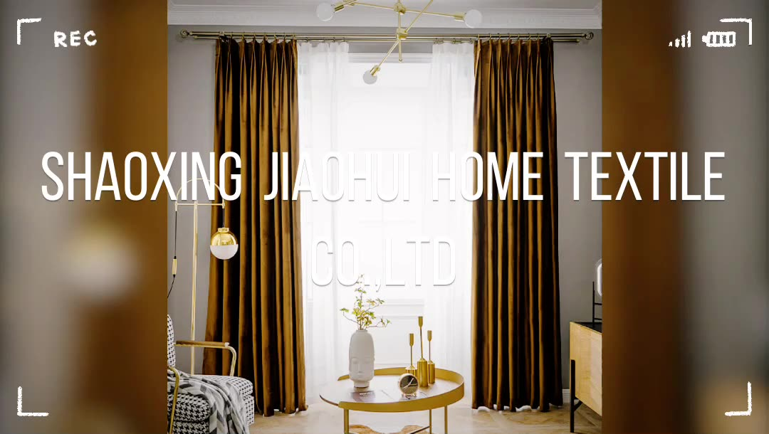 Best Selling Ready Made More Colors Choice Luxury Solid Blackout Velvet Curtain Fabric Window Living Room