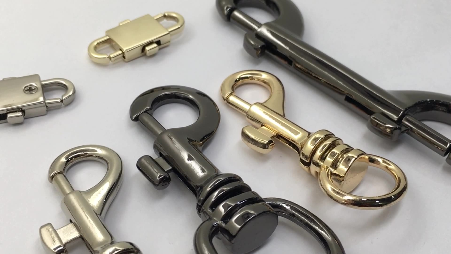 Bag Hanger Connector Cap Strap Bell Rope Swivel Clasp Screw Metal Snap Hook With Cord End Stopper
