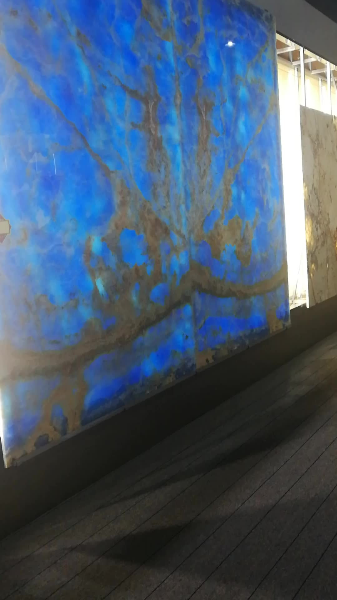 Golden blue onyx slabs