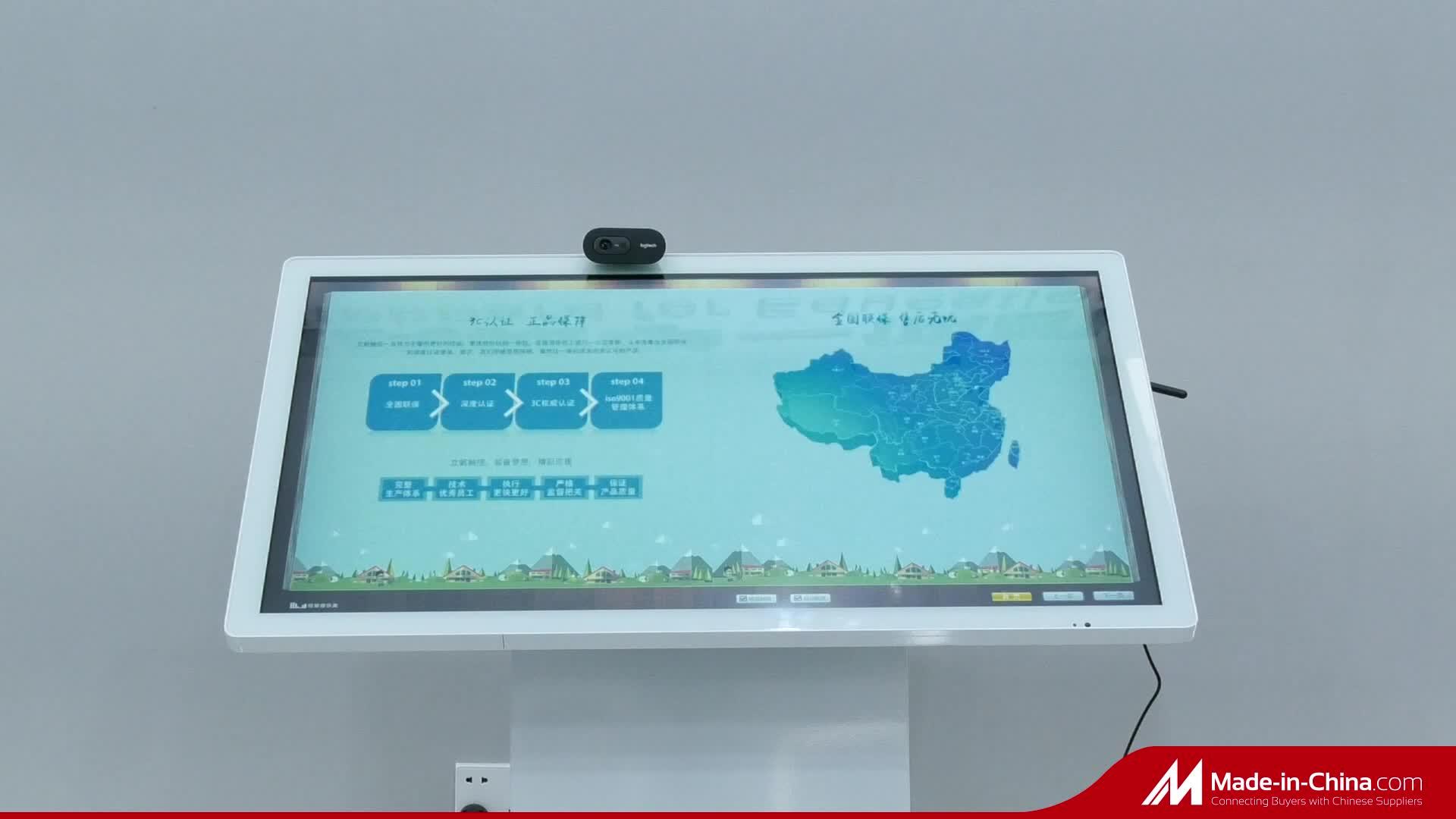 43 inç akıllı ev tasarımı dijital çoklu dokunmatik ekran interaktif sehpa