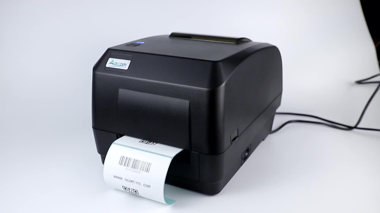 4 Inch Desktop Thermal Transfer Ribbon Stiker Barcode Label Printer