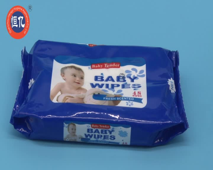 Private Label Baby Clean Cool Mint Wet Pocket Tissue Wipe