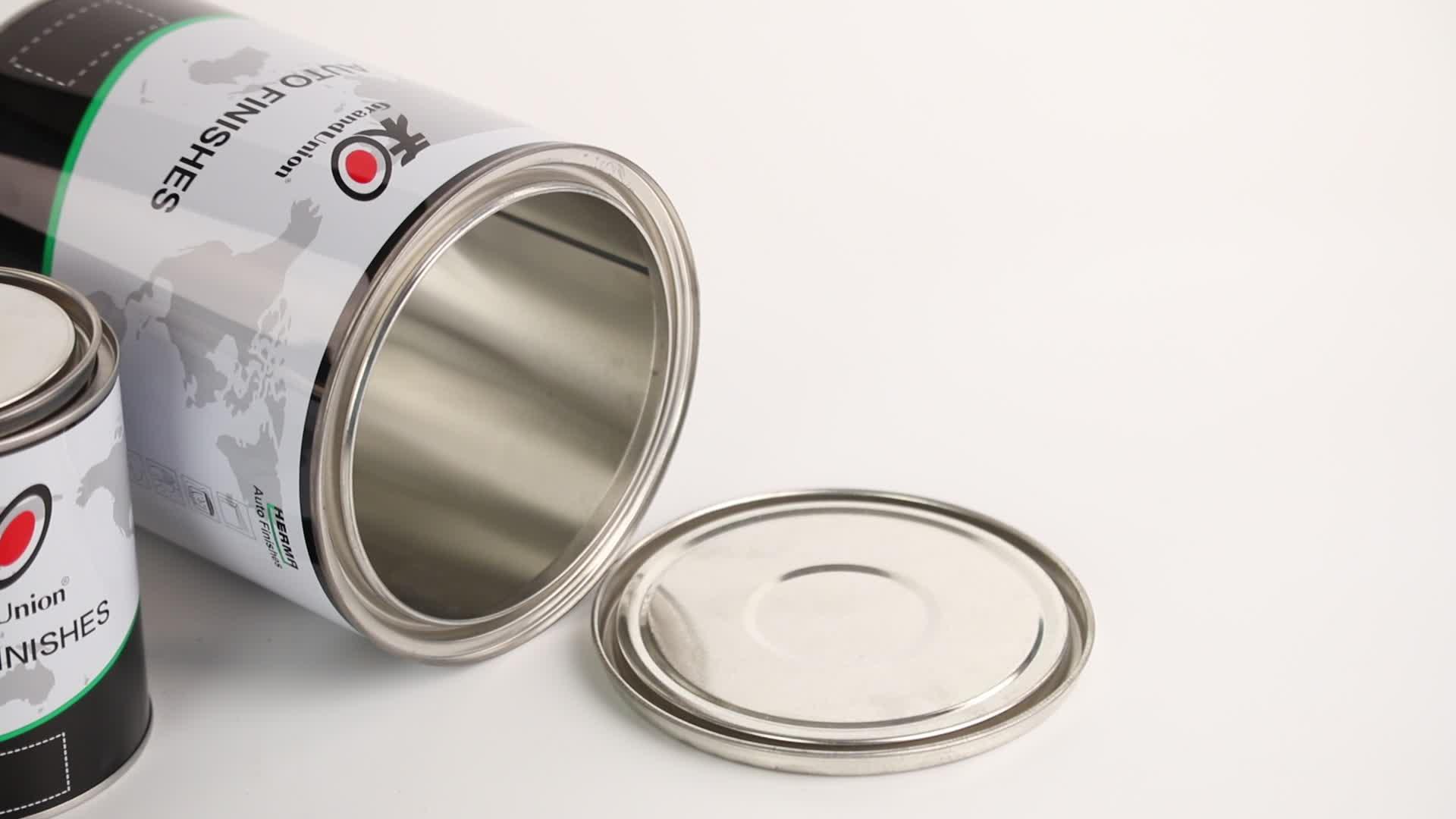 Silber 1c Farbe Logo Food Grade Verpackung kleines Metall rund / Sqaure Blechdose Tee kann