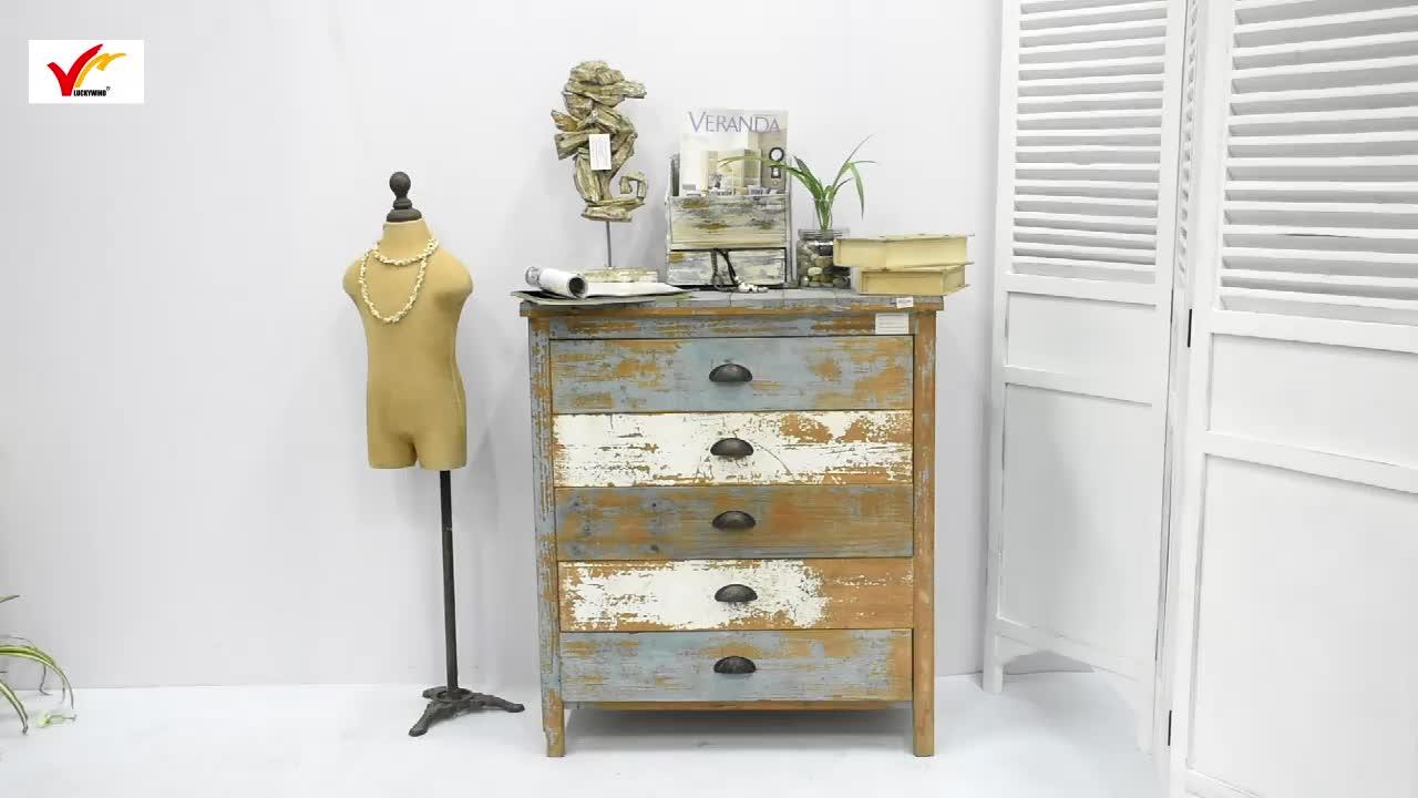 Großhandel Vintage Verwendet Recyceltem Holz Brust Von Schubladen