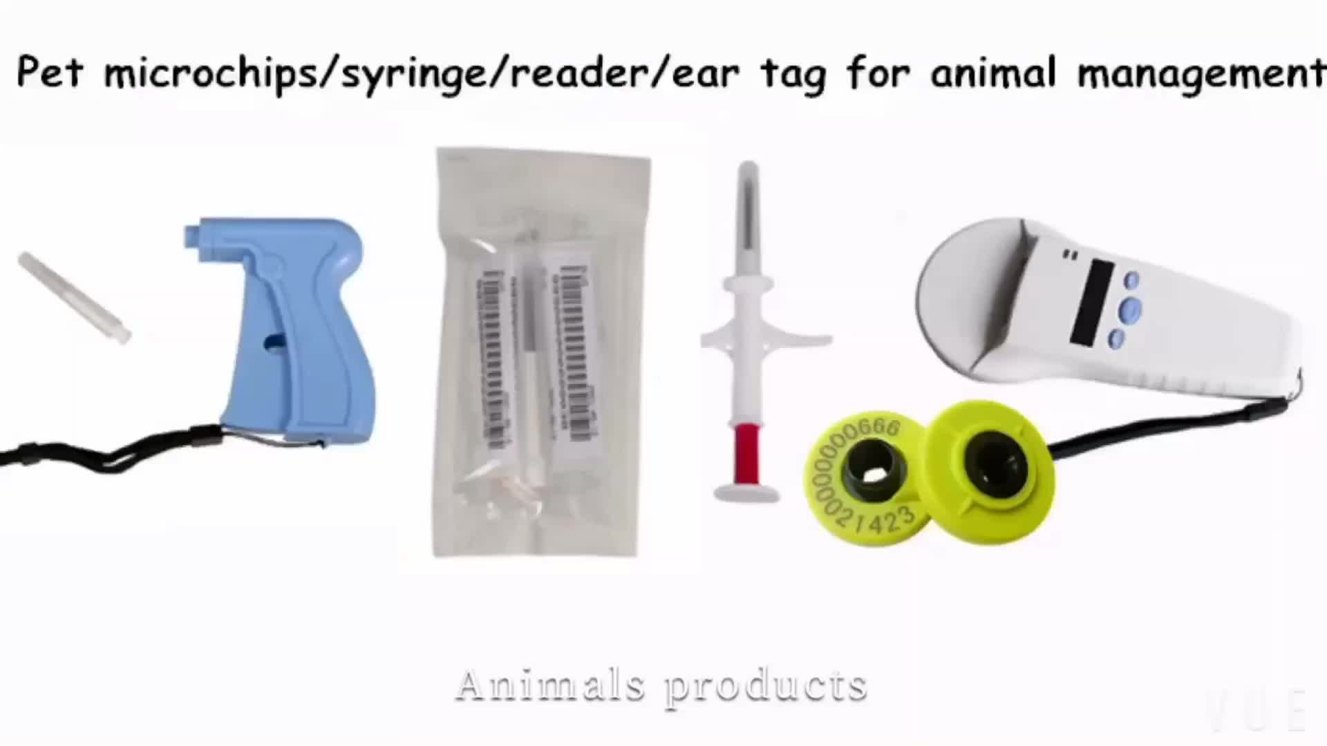 RFID 134.2KHz Animal Passive Ear Tag for Pigs Management
