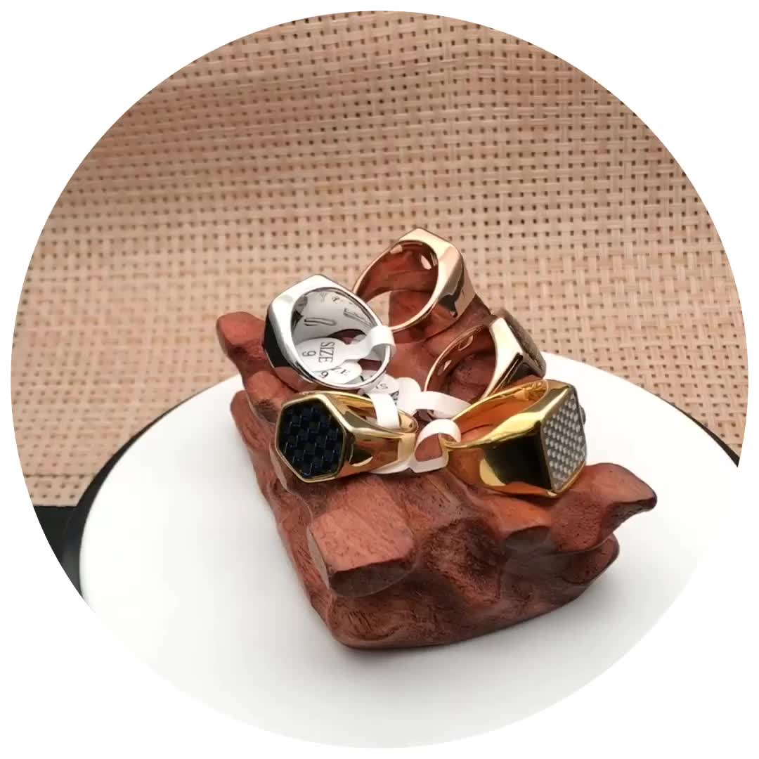고품질 18 K 골드 도금 독특한 뱀 반지 남자 스테인레스 스틸 쥬얼리