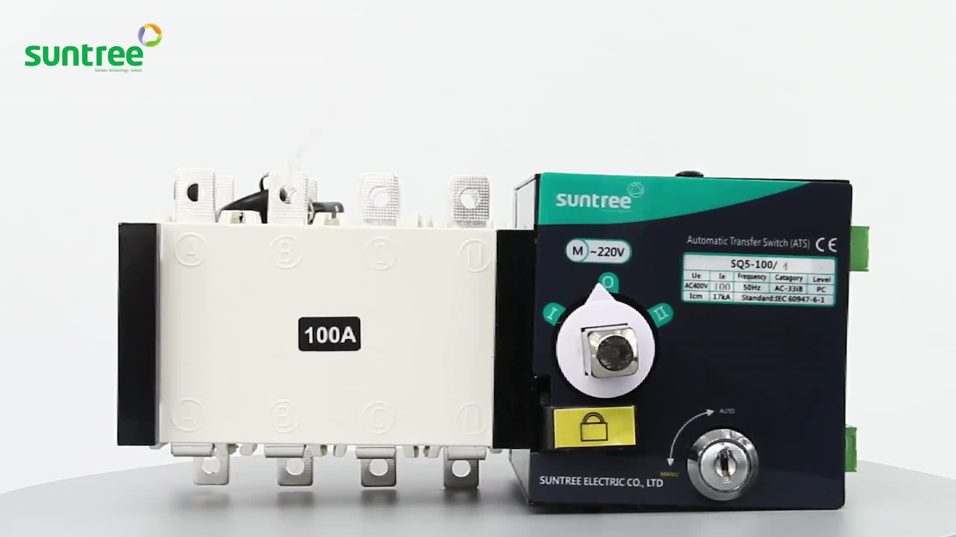 Suntree 전기 자동 전송 스위치 ATS 220 V 발전기 16A ~ 160A SQ5